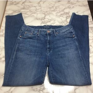 Mother high waisted looked ankle jeans
